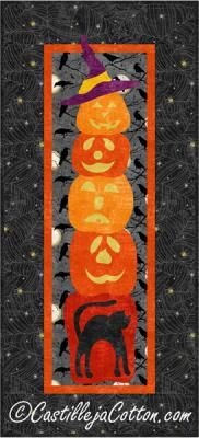 A Stack of Jacks Quilt Pattern (advanced beginner, wall) Halloween Quilts, Halloween Patterns, Halloween Pumpkins, Quilted Wall Hangings, Quilt Patterns, Quilting, Fabrics, Sewing, Canvas