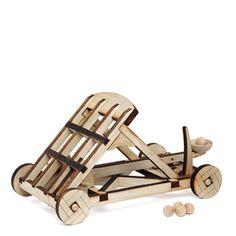 ThinkGeek :: Exclusive Wooden Catapult Kit