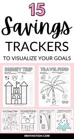 Do you have a big goal that you're trying to save for? Having a visual savings tracker can be a great way to track your progress and stay motivated! A savings tracker helps you create a visual reminder of all the hard work you've made towards your goal. You might think that you can save money without a clear goal or savings tracker, but it's A LOT easier if you track your savings. Debt free chart. Debt payoff chart. Emergency fund printable.