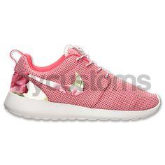 Nike Roshe Run Light Base Gray/Pink Rose Garden by NYCustoms, $160.00