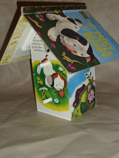 Pokey Little Puppy Book Birdhouse by littleacornproducts on Etsy