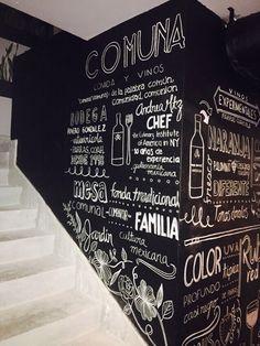 Chalk art for Restaurant Comuna