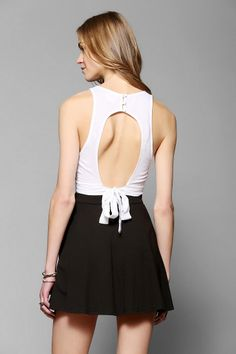 Urban Outfitters Coincidence & Chance Tie-Back Cropped Top