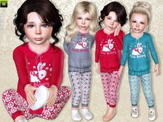 Snow Bunny pajama by lillka - Sims 3 Downloads CC Caboodle