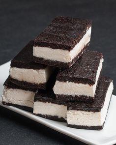 Brownie Ice Cream Sandwiches....oh u can make this recipe so boozy!!! | BuzzFeed
