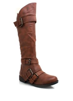 buckled leather riding boots $34.70