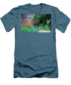 Panthera Tigris Altaica Men's T-Shirt (Athletic Fit) featuring the photograph Siberian Tiger by Cynthia Guinn