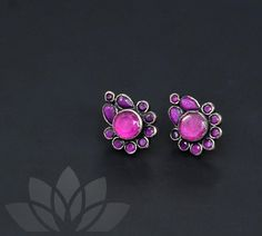 Silver Earrings, Silver Jewelry, Stud Earrings, Telugu Brides, Hindu Bride, South Asian Bride, Neck Piece, Handmade Jewelry, Unique Jewelry