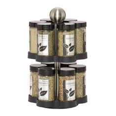 Traditional Kamenstein Madison 12-Jar Revolving  Spice Rack with Free Spice Refills for 5 Years, ,
