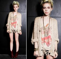 You can be a rock star with cardigan!