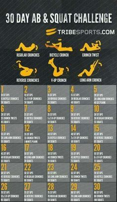 sit ups and squats