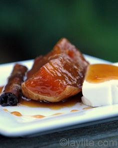 Dulce de zapallo or candied squash in spiced syrup - Laylita's Recipes