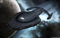 New Star Trek Starship Star Trek Borg, New Star Trek, Star Wars, Star Trek Enterprise, Star Trek Voyager, Flight Of The Navigator, Star Trek Wallpaper, Trek Deck, Fisher