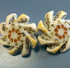 Bakelite earrings rhinestone