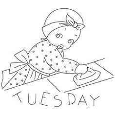 Pattern Detail | Mammy Tea Towels - Tuesday | Needlecrafter