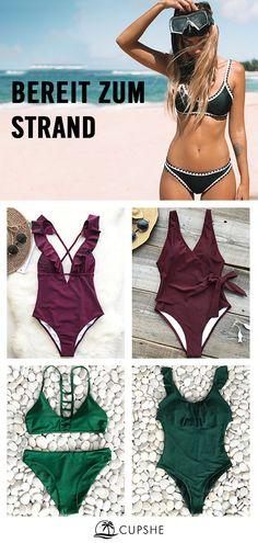The latest swimsuit trends at affordable prices. Bikini Swimwear, Swimsuits, Bikini Mode, Plus Size Bikini, Belted Shirt Dress, Mode Outfits, Lingerie, Summer Looks, Beachwear