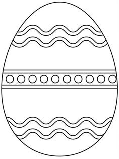 Plain Easter Egg Coloring Page From Eggs Category Select 24661 Printable Crafts Of