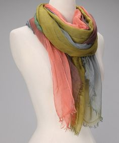 Take a look at this Lime & Blue Rock Star Scarf by pür cashmere on #zulily today!