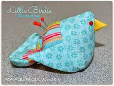"@ Quiltscapes.: Little Birdies Pincushion - free pattern & tutorial - need 2 x 5"" squares"