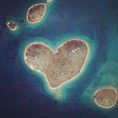 Heart-shaped island in Croatia, near Zadar...