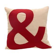A46 Organization Home Collection Kırmızı Small& Kadife Yastık - netlence.com