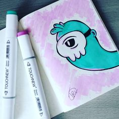 (@frolldaniel) #draw#drawing#drawingart#markers#marker#touchnew#touchnewmarkers#art#copic#copicart#copicmarkers#doodle#doodles#vexx#monster#monsters