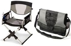 Gadgets messenger bag directors chair. Great for days at the beach or at a barbeque or....