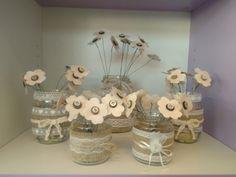 Barattoli decorati a mano con fiori