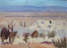 Desert Plain II Annabelle Gault Abstract Landscape Painting, Landscape Paintings, Watercolor Paintings, Abstract Art, Landscapes, Monet, Art Inspo, Pastel, Fine Art