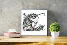 Hey, I found this really awesome Etsy listing at https://www.etsy.com/listing/598442193/unicorn-original-illustration-ink