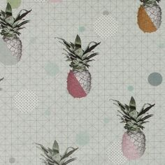 Cotton dusty green w pineapple/graphic Pineapple, Fabric, Prints, Cotton, Stuff To Buy, Amp, Weaving, Purchase Order, Tejido