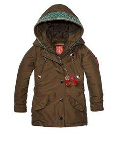 Longer Nylon Jacket With Embroidery > Kinderbekleidung > Mädchen > Jacken von Scotch R'Belle