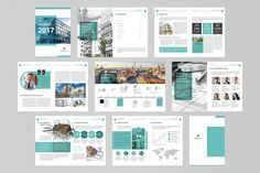 Company Profile Brochure 2017 by buttonpl on @creativemarket Design Brochure, Company Brochure, Brochure Template, Layout Design, Web Design, Graphic Design, Company Profile Template, Design Presentation, Creative Company