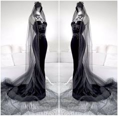 DaDa on - Nice Outfits - Gothic Fashion Mode, Dark Fashion, Gothic Fashion, Fashion Outfits, Nice Outfits, Black Wedding Dresses, Prom Dresses, Wedding Black, Gothic Wedding