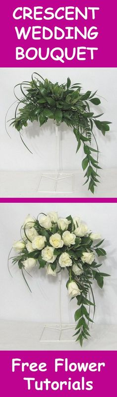 Fresh Flower Wedding Bouquet - Easy DIY Flower Tutorials  Learn how to make bridal bouquets, corsages, boutonnieres, reception table centerpieces and church decorations.  Buy wholesale fresh flowers and discount florist supplies.