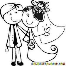 Risultati immagini per disegni sposi da colorare