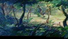 Animation Backgrounds: BAMBI Background Art