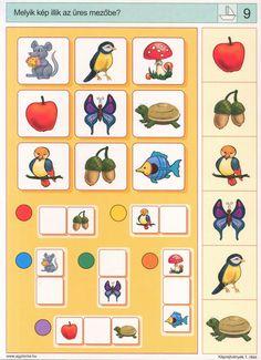 visuele discriminatie voor kleuters / preschool visual discrimination Autism Activities, Montessori Activities, Preschool Worksheets, Preschool Learning, Teaching, Visual Perception Activities, Sequencing Cards, File Folder Activities, Educational Games For Kids