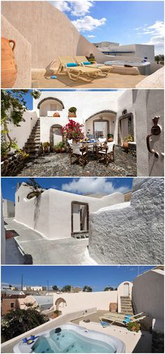 Santorini Greece 18th century canava #wimcovillas Villa Cyrene #luxurytravel