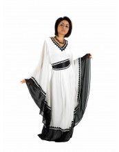 aljalabiya.com Jalabiya with Morrocan belt and French sleeves (WN-706)  $248.00