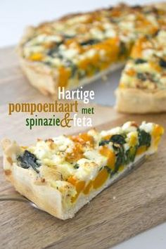 Hartige pompoentaart met spinazie en feta | BrendaKookt