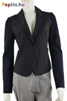 Anyag: 48% poliészter, 48% viszkóz, 4% elasztán/ bélés: 75% viszkóz, 20% poliamid, 5% elasztán. Méret:38  Szín:fekete Blazer, Jackets, Products, Fashion, Down Jackets, Moda, Fashion Styles, Blazers, Fashion Illustrations