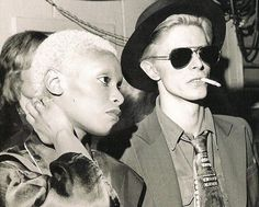 Ava Cherry and David Bowie, 1975.  Ava Cherry, aka Black Barbarella, dated David Bowie for several years in the mid-70s after meeting while performing as one of his back-up singers.