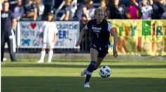 The BYU women's soccer team upset No. 11 Long Beach State 1-0 in its 2012 home opener, Thursday, on a goal by senior Carlee Payne Holmoe.