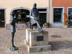 This monument to German philosopher Friedrich Nietzsche is located at a square named Holzmarkt (Timber market) in Naumburg (Saale). After the death of his father in 1849 Friedrich Nietzsche lived in this city from 1850 to His former … Continue reading → Friedrich Nietzsche, Germany, City, Deutsch, City Drawing, Cities
