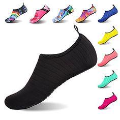 e85309fa3e1d Womens and Mens Kids Water Shoes Barefoot Quick-Dry Aqua Socks for Beach  Swim Surf Yoga Exercise
