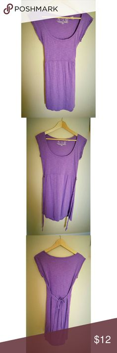 "Threads 4 Thought Tie Back Purple Dress Like New Size XS, fits XS, S, or M  Skirt length 20"" 60% Organic Cotton, 40% Recycled Polyester  No stains, rips, or tears I am always available to answer your questions, just let me know! :) Threads 4 Thought Dresses"
