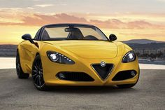 Alfa Romeo Spider 2015 Yellow Sport Cars