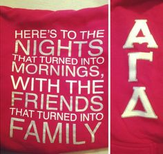Love this :) so true of my alpha gam sisters