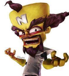 Crash Bandicoot Tattoo, Game Crash Bandicoot, Crash Bandicoot Characters, Crash Bash, Crash Team Racing, Cartoon Video Games, Cartoon Art, Geeks, Jet Set Radio